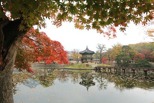 Gyeongbok Palace, Towards The Garden, Republic Of Korea