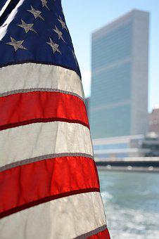 Un, United Nations, Us, American Flag, New York