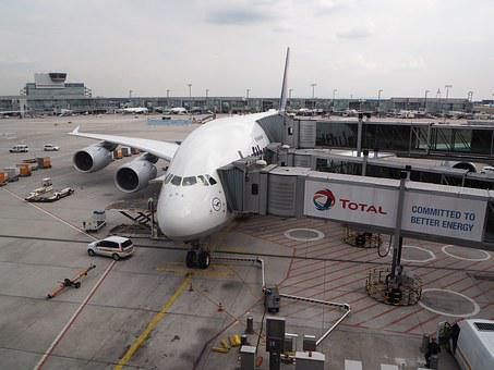 A380, Aircraft, Plane, Travelling, Germany, Air