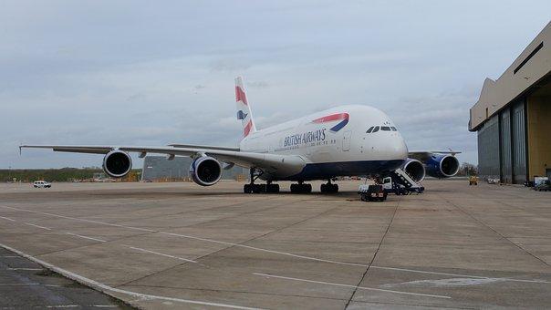 Airbus, A380, Airbus A380, Airplane, Plane