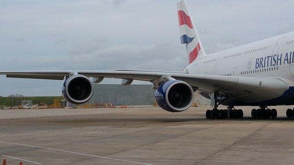 Airbus, A380, Airbusa380, Airplane, Engine