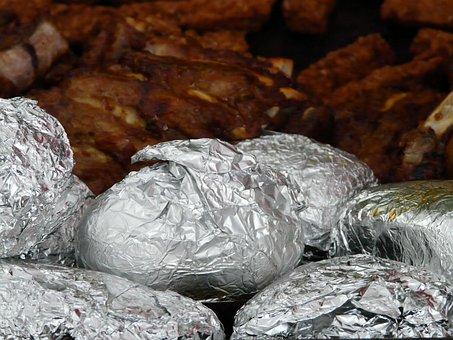 Baked Potatoes, Potato Dish, Aluminum Foil
