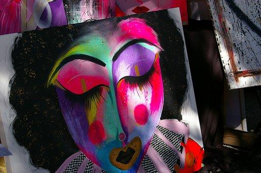 Art, Plate, Painting, Watercolor, Creative, Eyes