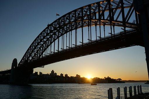 Sunrise, Sydney, Harbour Bridge, Australia, Bridge