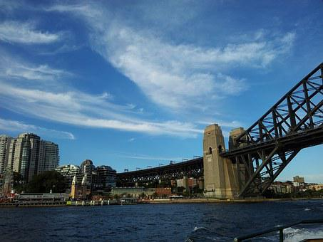 Sydney Harbour Bridge, Sky, Bridge, Harbour, Sydney
