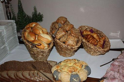 Roll, Bread, Buffet, Breakfast, Breakfast Buffet