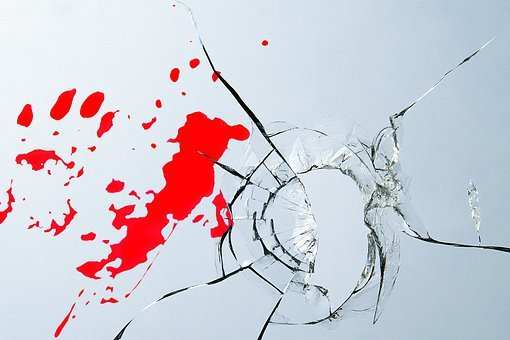 Burglary, Glass, Blood, Injury, Crime, Disc, Window
