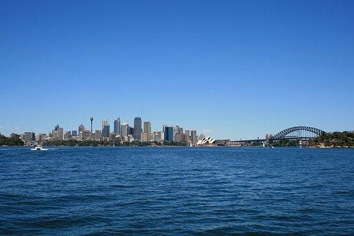 Sydney, Skyline, City, Harbor, Sea, Skyscraper, Tourism