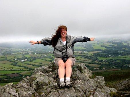 Great Sugar Loaf, Ireland, Mountain, Climbing, Woman