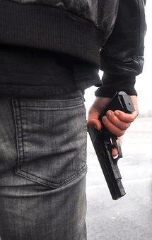 Gun, Gangster, Leather, Criminal, Pistol, Crime