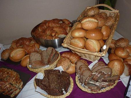 Breakfast Buffet, Bread, Breads, Roll, Croissants