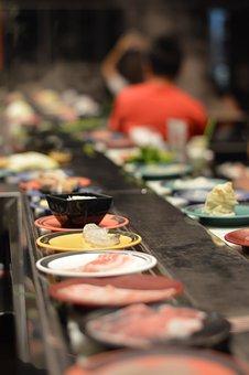 Japan Food, Belt, Sushi, Buffet, Food, Thailand, Eating