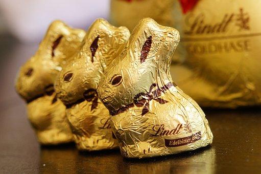 Easter Bunny, Rabbit, Gold Foil, Golden, Gold, Easter