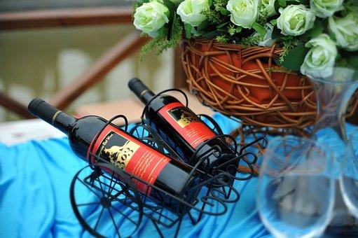 Buffet, Wedding, Good Wine, Wine, Outdoor Picnic