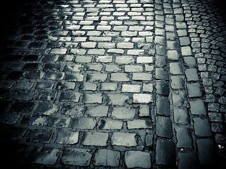 Cobblestones, Road, Paving Stones, Historic Center