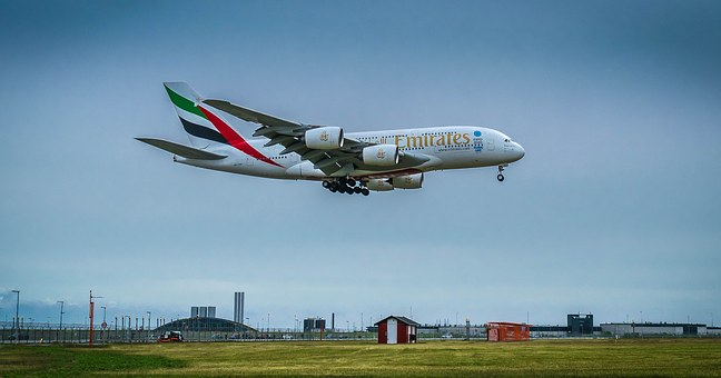 Aircraft, Jet, Fly, Landing, Airbus, A380, Holidays