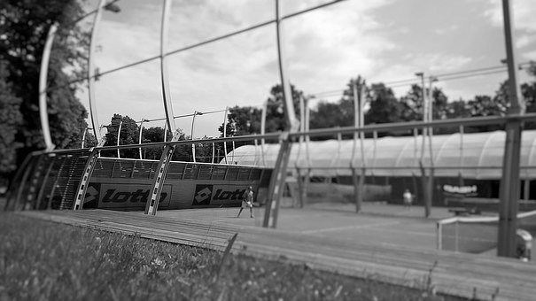 Tennis, Clay Court, Landscape, Outdoor, Sky, White