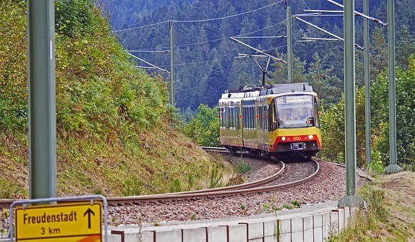 Light Rail, Railway Line, Northern Black Forest, Slope
