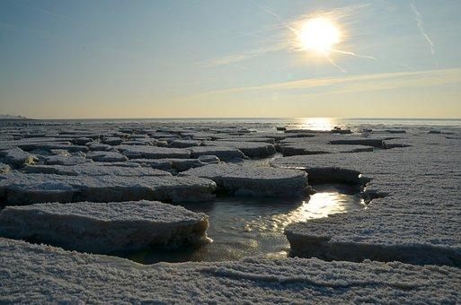 Ice, Cold, Sun, Sunset, Sea, Boat, Port, Ship, Maritime