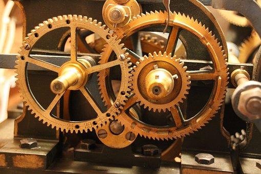 Gears, Movement, Gear, Clock, Mechanics, Historically