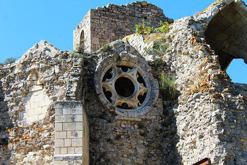 Rosette, Old Rose, Rose Stone, Church, Cathar Church