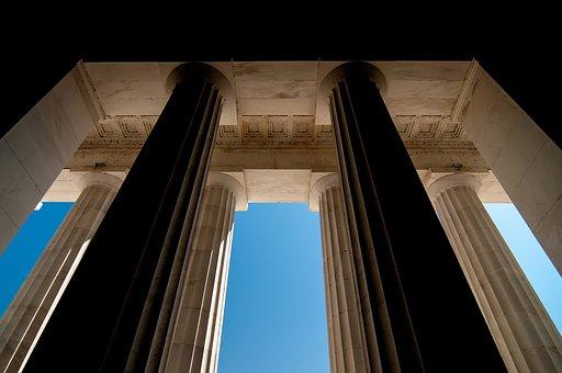 Pillar, Modern, Stone, Massiveness, Pompous, Exit