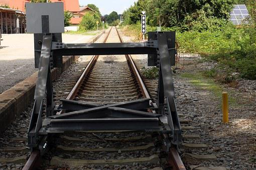 Buffer Stop, Railroad Track, Ground Rail, End