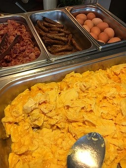 Scrambled Eggs, Bacon, Sausage, Food, Egg, Restaurant