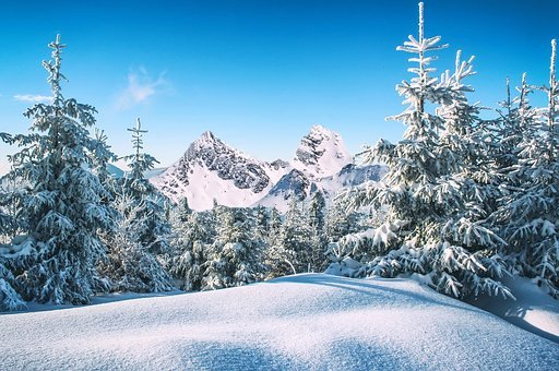 Winter, Snow, Nature, Mountains, Icicles, Ice, Frozen