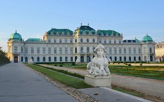 Belvedere, Castle, Sphinx, Baroque, Vienna