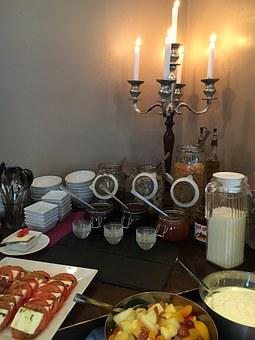 Candle Holders, Breakfast, Delicious, Spread