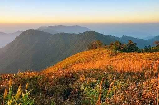 Mountains, Sunrise, Sky, Nature, Landscape, Sun, Travel