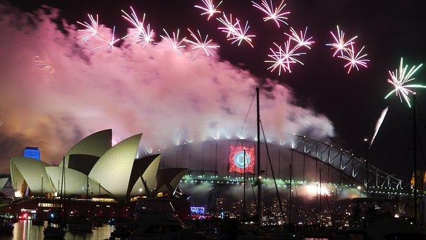 Australia, Sydney, Opera, Sylvester, Fireworks