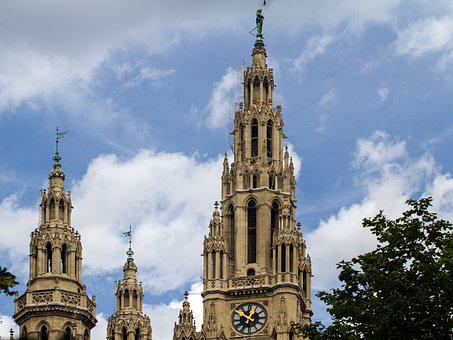 Vienna, Town Hall, Towers, Places Of Interest