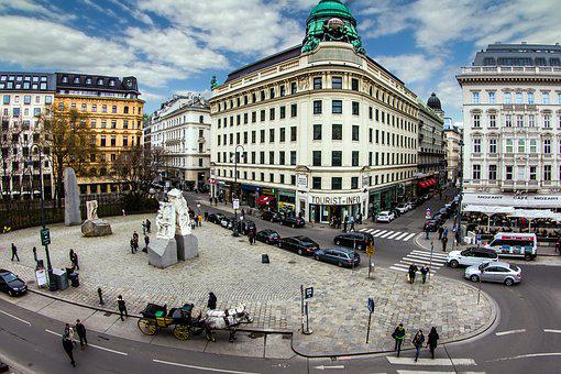 Vienna, Downtown, Panorama, View, Albertina Space
