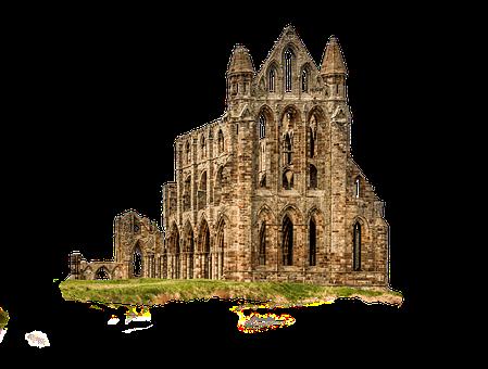 Ruin, Monastery, Abbey, Gothic, Whitby, Dracula