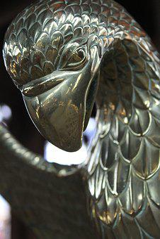 Sculpture, Bird, Silver, Statue, Animal, Architecture