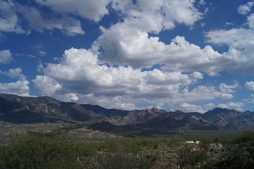Cloud, Blue, Sky, Mountain