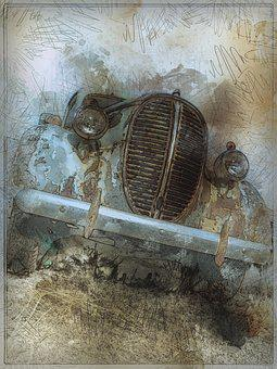 Old Timer, Automobile, Rusty, Car, Transportation