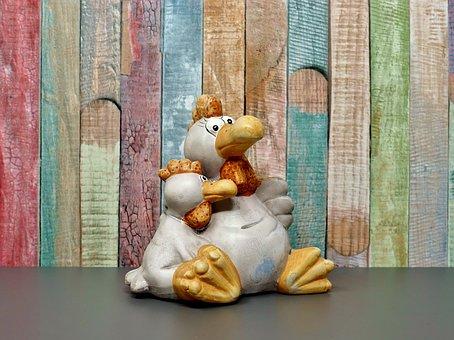 Chicken, Figure, Bill, Decoration, Chickens, Ceramic