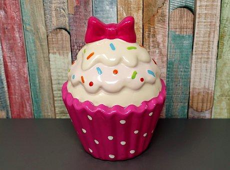 Cupcake, Ceramic, Colorful, Funny, Loop, Decoration