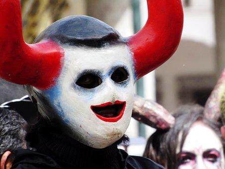 Man, Devil, Basin, Culture, Halloween, Death, Dark