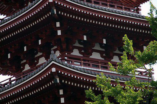 Pagoda, Roof, Temple, Ancient, Japanese, Decoration
