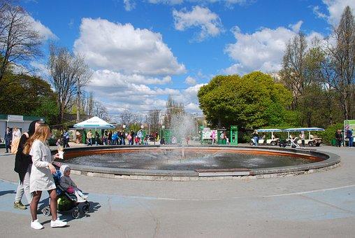 Kyiv, Kiev, Ukraine, Botanical Garden, Art, Fountain