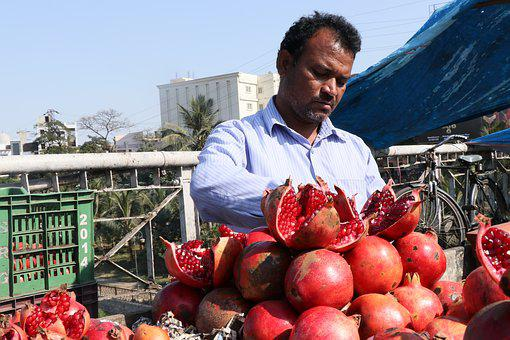 Pomegranate, Pomegranate Shop, Fruit, Fresh, Market