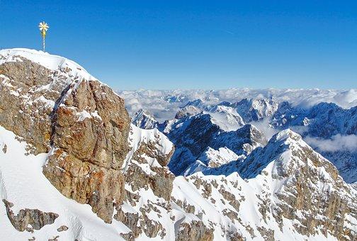 Zugspitze, Summit, Alpine, Mountains, Outlook, Germany
