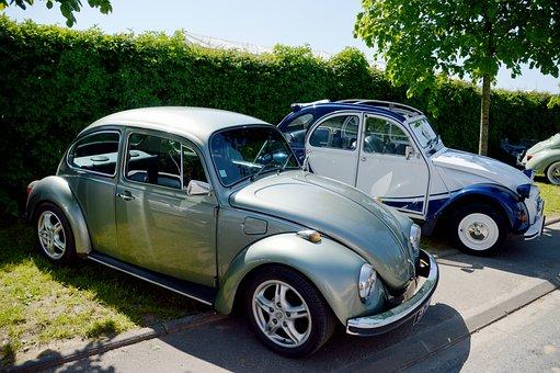 Car, Retro, Vintage, Former, Old Car, Ladybug
