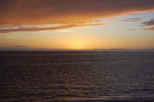 Puerto Naos, Palm, Landscapes, Setting Sun