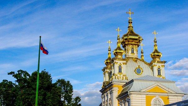 St Petersburg, Russia, Peterhof, Building
