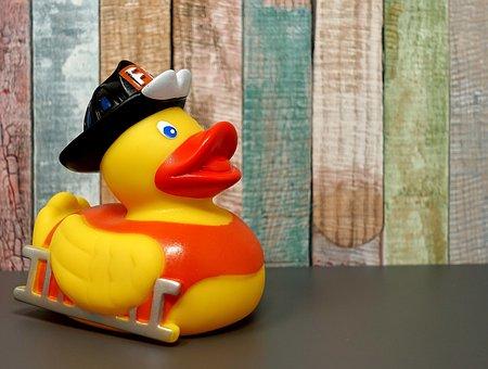 Rubber Duck, Fire Fighter, Squeak Duck, Bath Duck, Toys